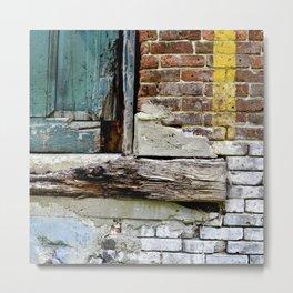 brick & wood multimedia Metal Print