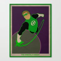 green lantern Canvas Prints featuring Green Lantern by Josh Akery