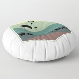 Paragliding At The Mountain Floor Pillow