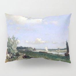 Canal At Rijswijk By Johan Hendrik Weissenbruch | Reproduction Pillow Sham