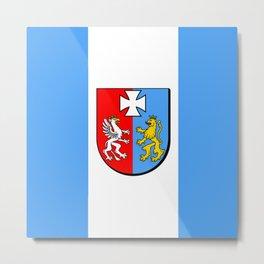 flag of podkarpackie or Subcarpathia Metal Print