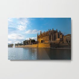 Day to night on Cathedral of Palma de Mallorca Metal Print