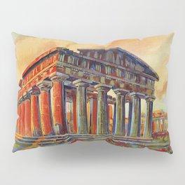 Paestum ancient Greek temple Pillow Sham