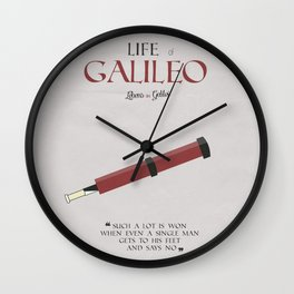Life of Galileo Galilei, Bertolt Brecht, book cover, classic novel, play, poster, penguin, theatre Wall Clock
