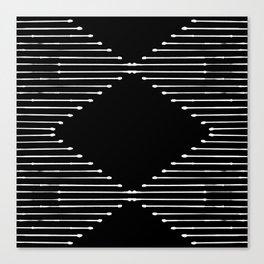 Geo / Black Canvas Print