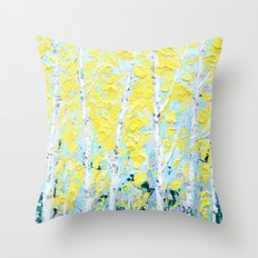 New England Paper Birch Throw Pillow