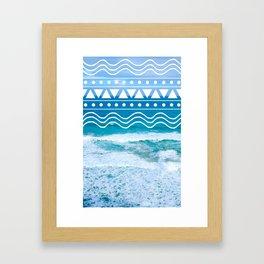 Ocean Doodles Framed Art Print