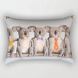 The Five Koalas Rectangular Pillow