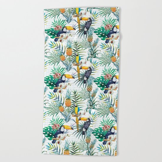 Tropical Summer #10 Beach Towel