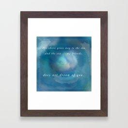 Malazan: The Sea Does Not Dream Framed Art Print
