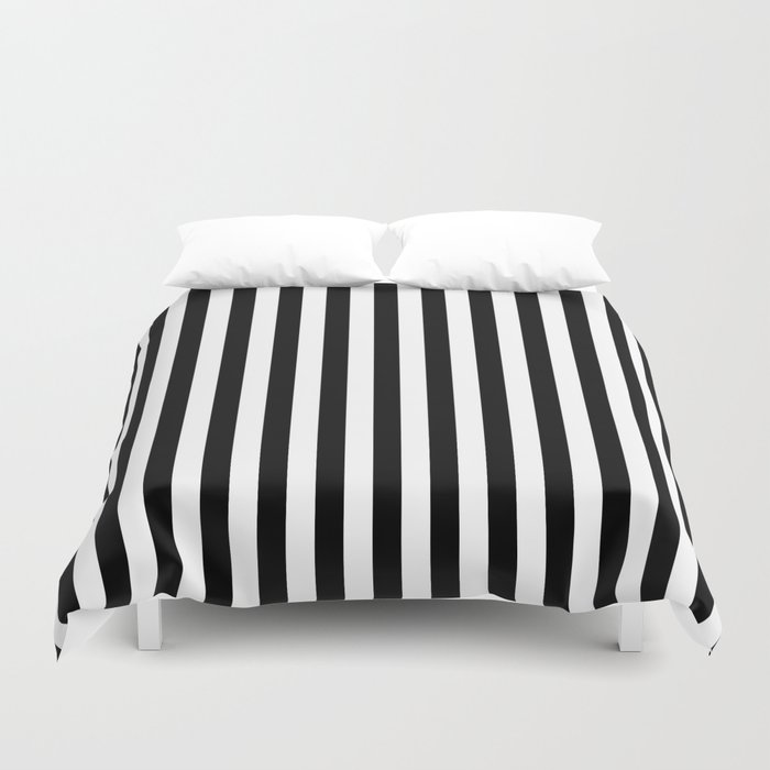 Stripe Black And White Vertical Line Bold Minimalism Stripes Lines Bettbezug