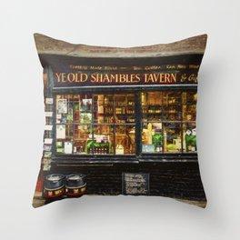 Ye Old Shambles Tavern Throw Pillow