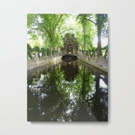 Gardens of Luxemborg Metal Print