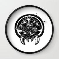 metroid Wall Clocks featuring Metroid by Barrett Biggers