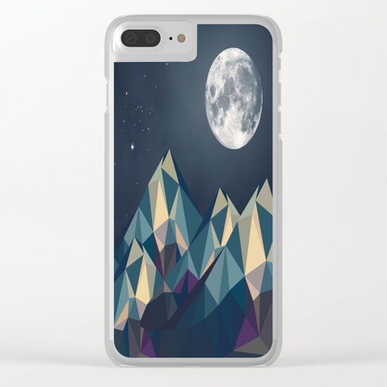 Night Mountains No. 1 Clear iPhone Case