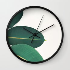 Rubber Fig Leaves II Wall Clock