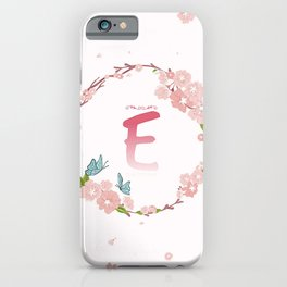 Letter E iPhone Case