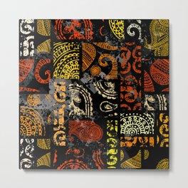Ethno Pattern Collage Metal Print
