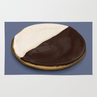 seinfeld Area & Throw Rugs featuring The Black & White Cookie by paper moon projects
