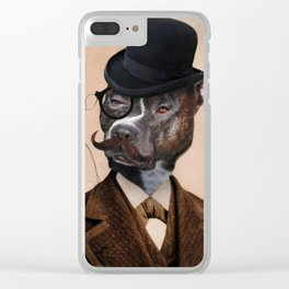 Pitbull Dog Art - Murphy of Cork Clear iPhone Case