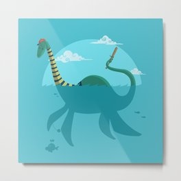 "Loch""Ness"" Monster Metal Print"