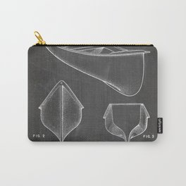Canoe Patent - Kayak Art - Black Chalkboard Carry-All Pouch