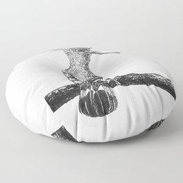 Hoopoe drawing Floor Pillow