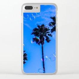 Tropical glitch Clear iPhone Case