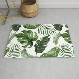 Tropical Leaf Rug