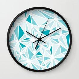 geo blue Wall Clock