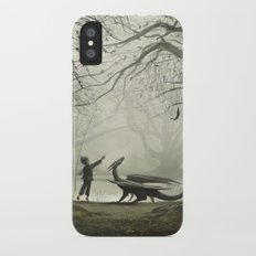 The Boy And His Dragon iPhone X Slim Case