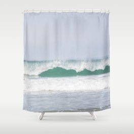 sea waves Shower Curtain
