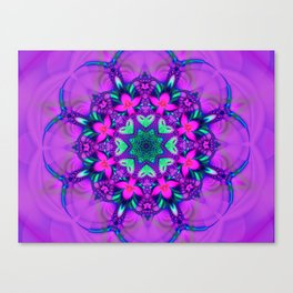 Floral Whirl Canvas Print