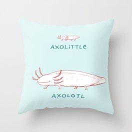 Axolittle Axolotl Throw Pillow