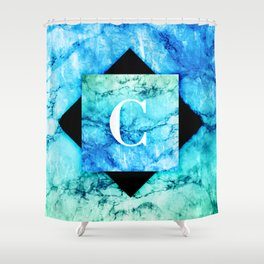 C - Monogram Vivids Shower Curtain