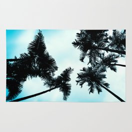 Turquoise Fun - nature photography Rug