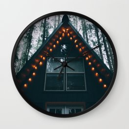 Cabin #woods Wall Clock