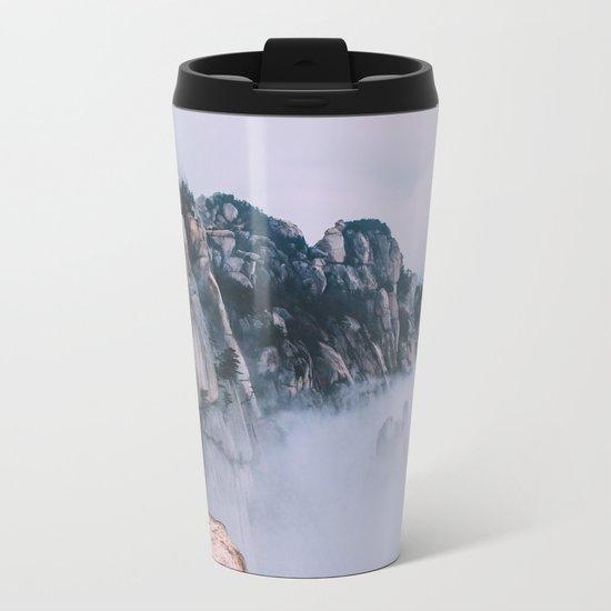 Mountains #fog #society6 Metal Travel Mug