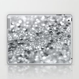 Silver Gray Lady Glitter #1 #shiny #decor #art #society6 Laptop & iPad Skin