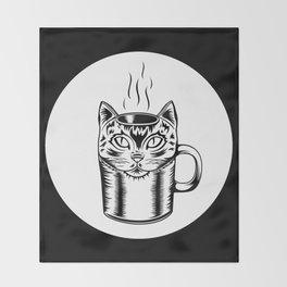 Coffee Cat Throw Blanket