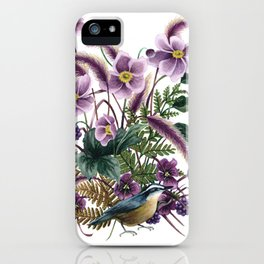 Autumn Nuthatch iPhone Case