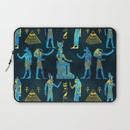 Egyptian  Gold and blue glass pattern Laptop Sleeve