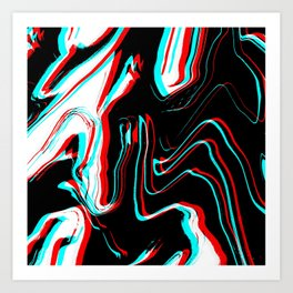 Trippy Confused Art Print