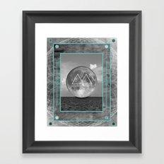 Oceano.Luna Framed Art Print