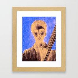 Man and strings Framed Art Print