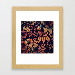 Rainbow Florals  Framed Art Print