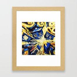 Tardis By Van Gogh - Doctor Who Framed Art Print