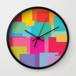 colorful-3 Wall Clock