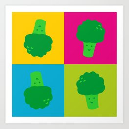 Popart Broccoli Art Print