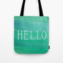 Hello Mint Tote Bag